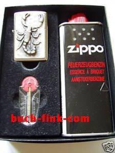 Zippo Feuerzeug Skorpion Geschenk-Set