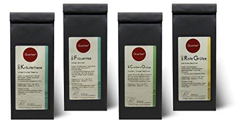 Probierset Biotee Quertee® Nr. 3 – 4 x 50g Bio Tee – Tee Geschenkset – Tee Geschenk –
