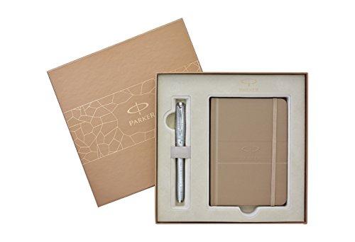 Parker Urban Premium Silver Blue C.C. Füllfederhalter & Notizbuch Geschenkset