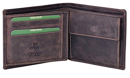 Visconti Trifold Leder Herren Geldbörse