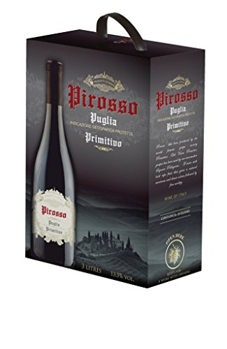 Pirosso – Puglia Primitivo Rotwein Bag in Box 13,5% – 3l