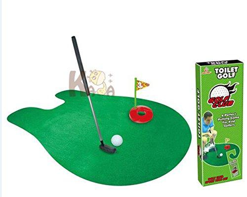 WC-Golf Funny Töpfchen Putter WC-Time Badezimmer Mini Golf Toy Geschenk-Set