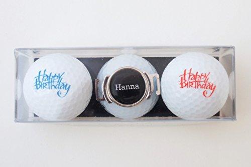 Geschenk-Set: 2 Golfbälle mit