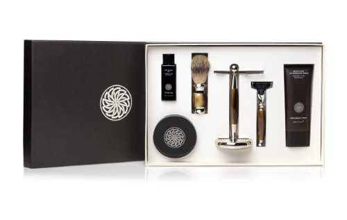 Gentlemen's Tonic Verwöhn-Geschenk-Set – (Pre-Rasur-Öl, Traditional Rasiercreme, Aftershave Balsam, Mayfair Set), 1er Pack (1 x 4 Stück)