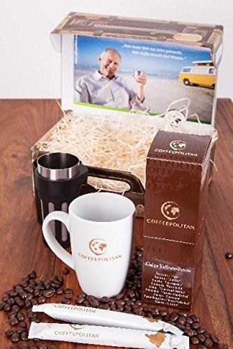 Coffeepolitan Geschenk-Set – Kaffee-Weltreise mit Zubereitungsset; das besondere Geschenk für jeden Anlass