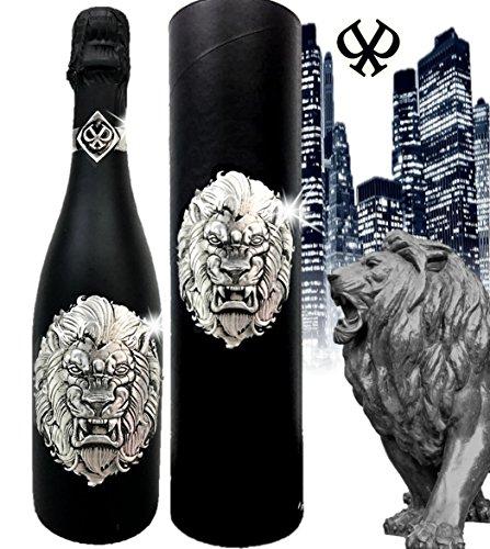 Das Sekt Geschenkset LÖWE| **streng limitert**|exklusiver Cuvée mit silbernem Löwen in 3D | Das Luxus-Geschenk für Männer, Freunde | Alternative zu Champagner zum Geburtstag Vatertag