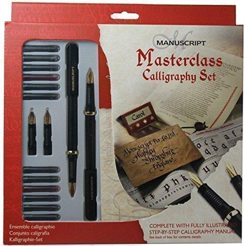 Manuscript Masterclass Calligraphy Geschenk Set Linkshänder