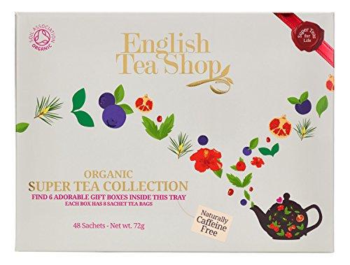 English Tea Shop – Super Tea Collection, koffeinfrei, BIO, 6 Sorten, 48 Teebeutel