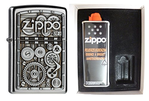 2004497 Zippo Feuerzeug Gear Wheels Geschenk Set