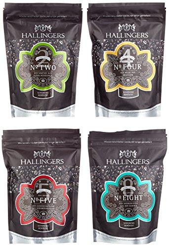 Hallingers Kaffee-Mix Crema 4x250g Set, 1er Pack (1 x 1 kg)