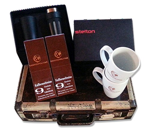Coffeepolitan Geschenk-Set für Paare: Kaffee-Weltreise mit Zubereitungsset; ideal auch als Weihnachtsgeschenk oder Kaffee Probier-Set