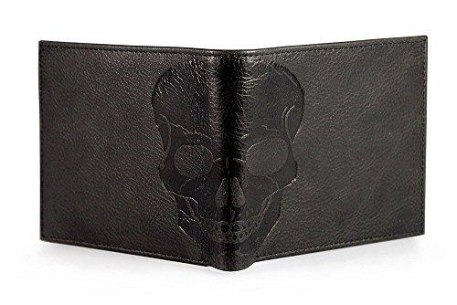 Corder London  Skull-emboss-wallet,  Herren-Geldbörse Gr. onesize, Black – Gift Box