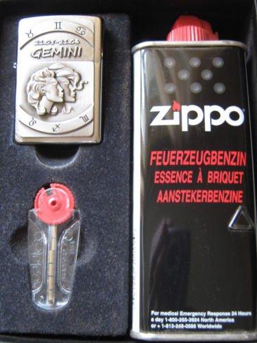 Zippo Feuerzeug Sternzeichen Zwillinge Geschenk-Set – Gift Set