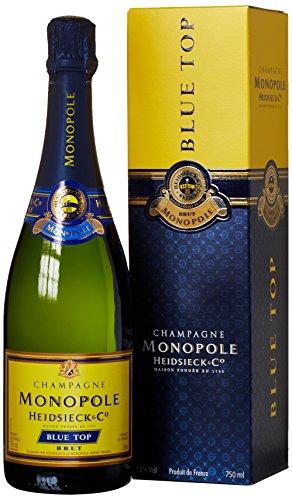 Champagne Monopole Heidsieck Blue Top Brut mit Geschenkverpackung (1 x 0.75 l)