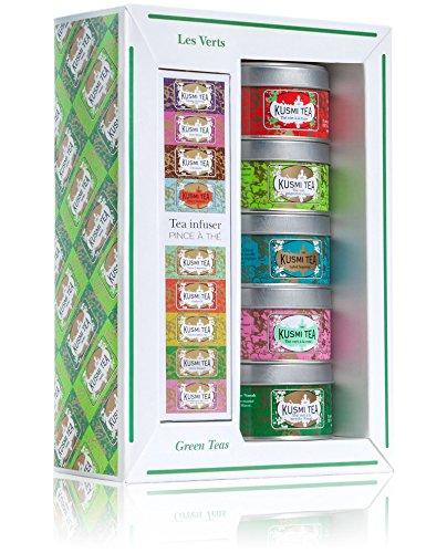 Kusmi Tee Miniaturen 5 x25g Grüner Tee mit Teesieb GeschenkSet