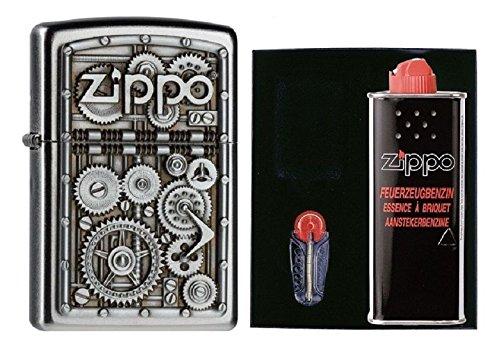 2004497 Zippo Feuerzeug Gear Wheels Geschenk Set mit persönlicher Gravur
