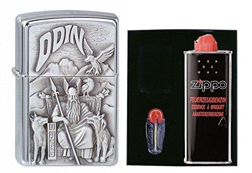 1300097 Zippo Feuerzeug Odin Geschenk Set mit persönlicher Gravur