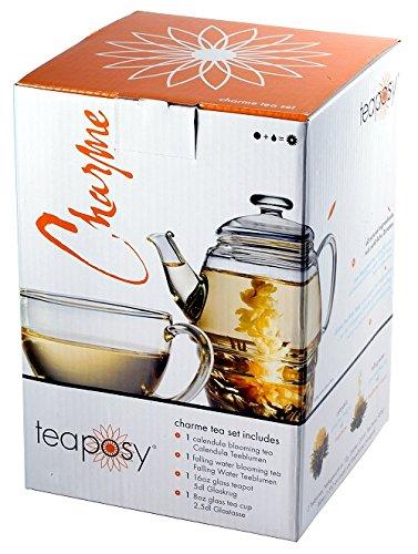 Edles exklusives Teaposy Teeblumen – Geschenkset