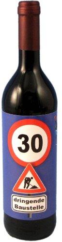 Rotwein zum 30. Geburtstag