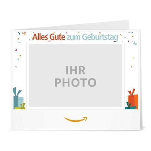 Amazon.de Gutschein zum Drucken mit eigenem Foto (Geburtstag)