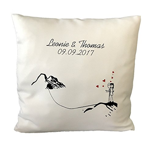 Liebespaar-Kissen mit persönlichem Druck – Romantisches Kuschelkissen – Valentinstagsgeschenke Partnergeschenke Liebesbeweis
