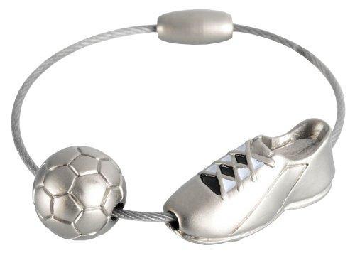 Troika – KYC50/MA – Schlüsselanhänger Fußballschuh KICK, schwarz/weiss