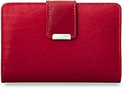 praktisches Damen – Portemonnaie Leder – Geldbörse (rot)