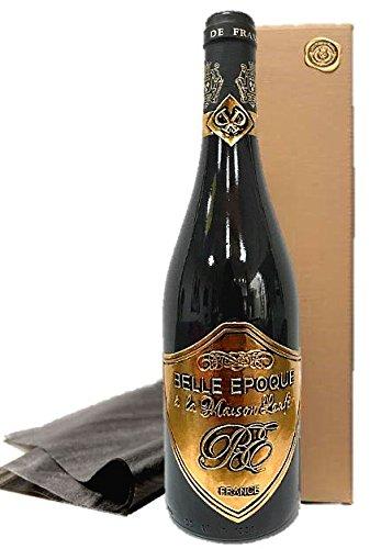 Luxus Geschenk für Bordeaux-Liebhaber | Rotwein Belle Epoque á la Maison Laufèr | im Eichenholzfass gereift | in Geschenkverpackung gold | für verwöhnte Weinkenner | Geburtstag Kundengeschenk| Geschenkset Frankreich Rotwein