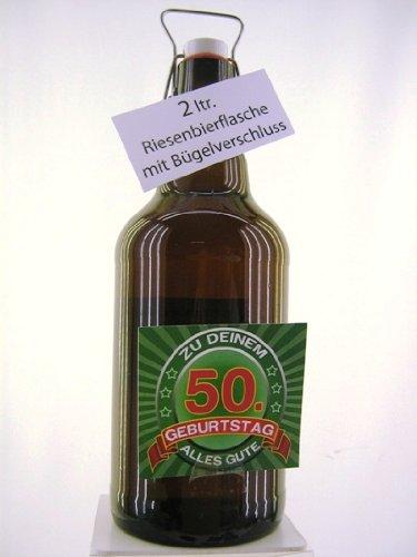 Riesenbierflasche XXL-Bierflasche zum 50. Geburtstag