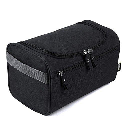 Premium Kulturbeutel zum Aufhängen | Kulturtasche groß | Die ultra-leichte Waschtasche für Deine Reise | wasserabweisend | geräumig | robust | schwarz | Die perfekte Reisetasche für Herren