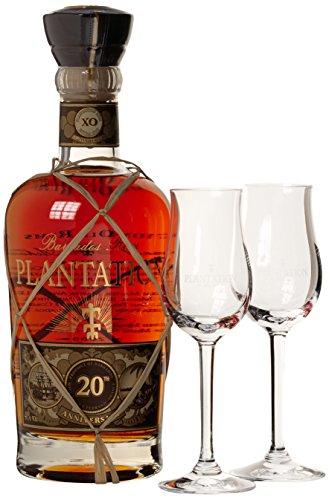 Plantation Barbados XO Extra Old 20th Anniversary mit Geschenkverpackung mit 2 Gläsern Rum (1 x 0.7 l)