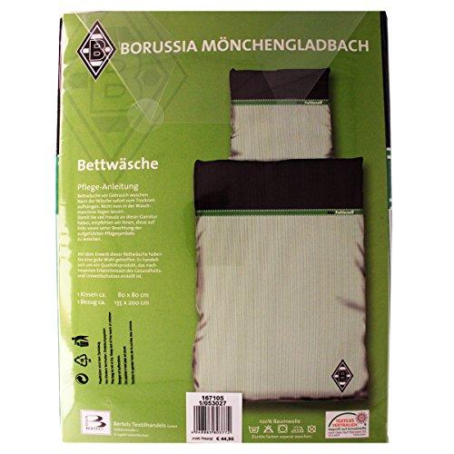 Borussia Mönchengladbach Bettwäsche mit Knöpfen Daman 135×200 Fußball Bundesliga