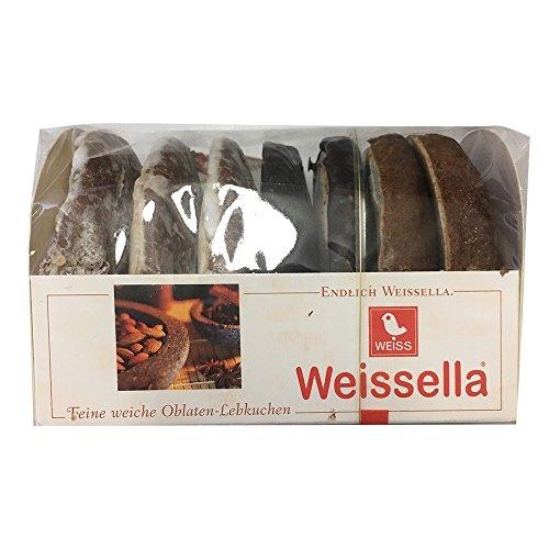 Lambertz Weisella Feine weiche Oblaten-Lebkuchen mit Nüssen und Kernen 3-fach sortiert in verschiedenen Variationen (200g Packung)