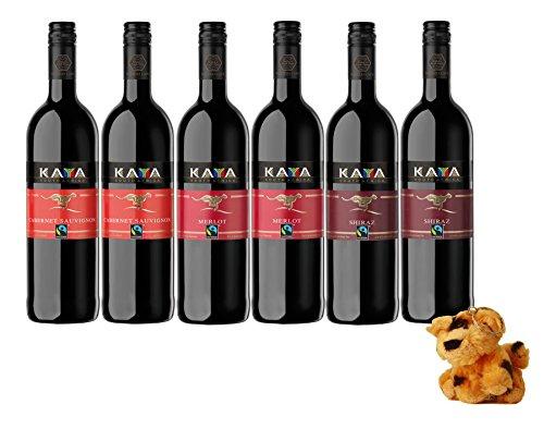Kaya Fairtrade Rotwein Probierpaket trocken (6 x 0.75 l)
