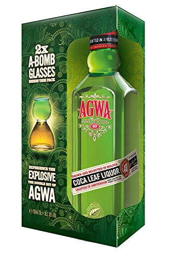 Agwa de Bolivia Likör 0,7 Liter in Geschenkverpackung mit 2 Gläsern