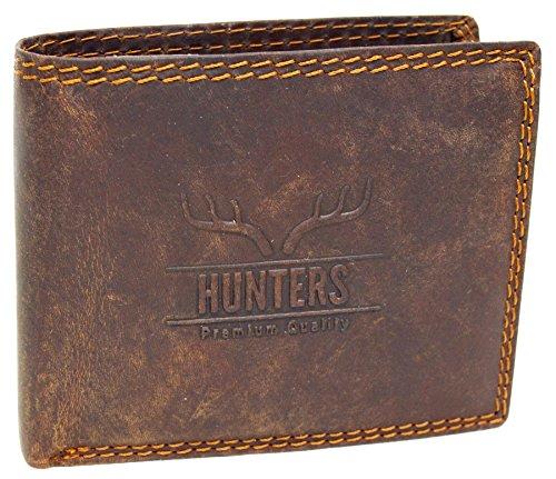Wild Büffel Leder-Geldbörse Natural Hunter Leder Herren Portemonnaie