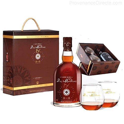 DOS MADERAS PX 5YO + 5YO Rum Geschenkbox mit zwei Gläsern