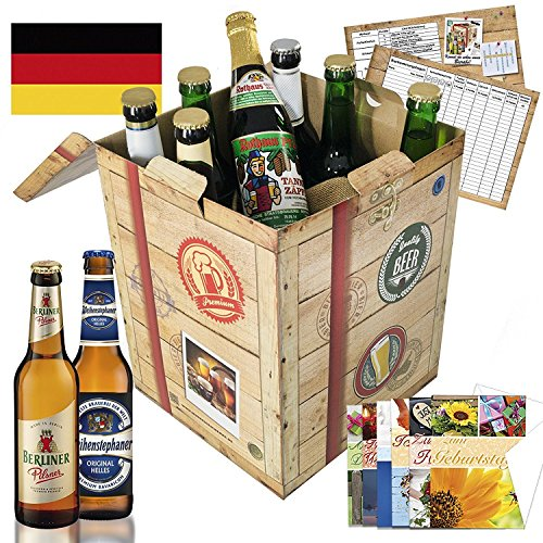 Geschenkidee für Freund Geschenkbox + gratis Bierbuch + Geschenkkarten + Bierbewertungsbogen. Brauerei Eller + Schlappeseppel + Tegernseer +… Besser als Bier selber machen oder selbst brauen: Geburtstagsgeschenk Jahrestag Geburtstagsbier Geschenk Geburtstagsgeschenke geschenksets geschenke für den freund geschenkideen 50 geburtstag geburtstagsgeschenke für männer ruhestand geschenk geburtstagsüberraschung präsentkörbe