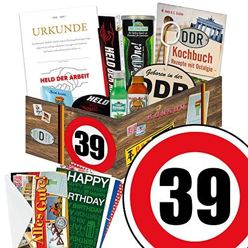 39. Geburtstag Männer Geschenk – Ostprodukte ECHTE MÄNNER Box + Geschenkverpackung